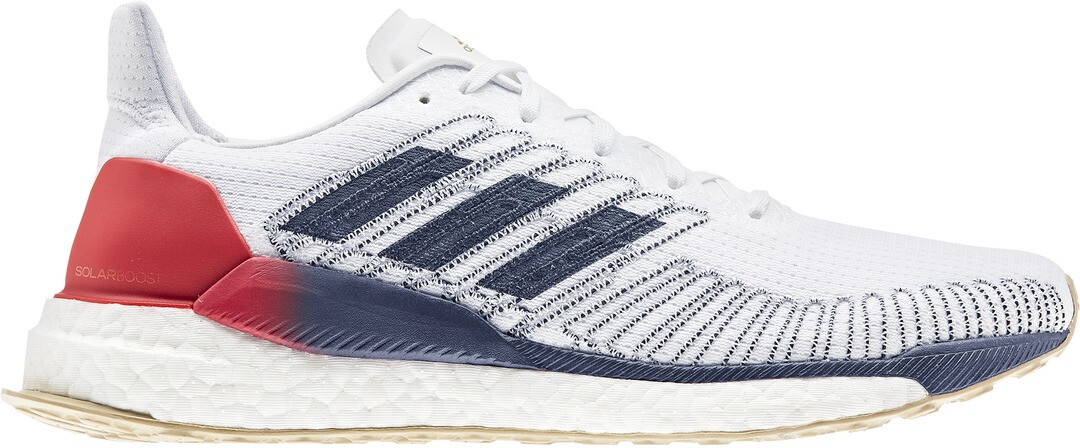 adidas Solar Boost 19 Low Cut Schoenen Heren, footwear whitetech indigoscarlet